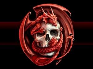 Calavera y dragón