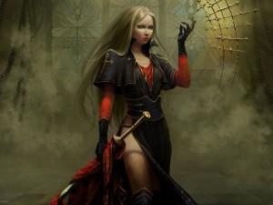 Postal: Hermosa guerrera
