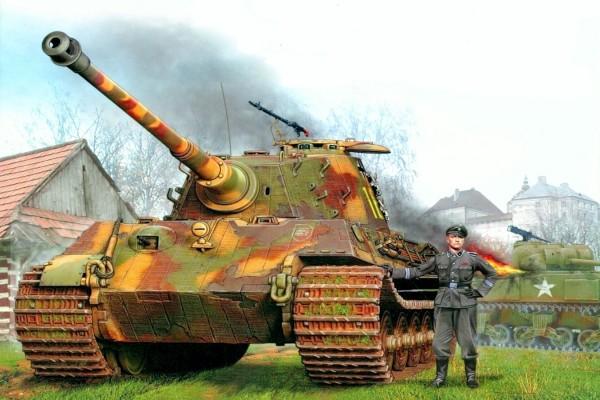Panther y soldado alemán