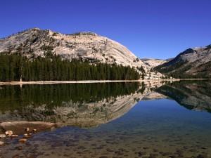 Postal: Lago Tenaya en el Parque Nacional de Yosemite