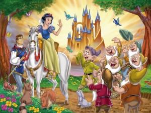 Blancanieves, el príncipe y los enanitos