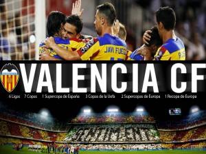 Postal: Celebrando el gol (Valencia Club de Fútbol)
