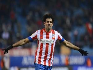 Diego Costa con la camiseta del Atlético de Madrid
