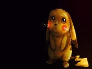 Postal: Tierno Pikachu