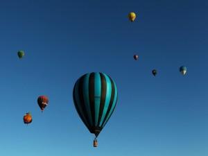 Postal: Competición de globos aerostáticos