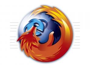 Postal: Firefox comiéndose a Internet Explorer