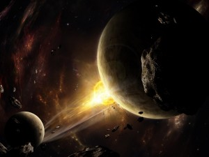 Postal: En el espacio