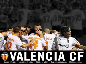 Postal: Valencia CF, celebración de un gol