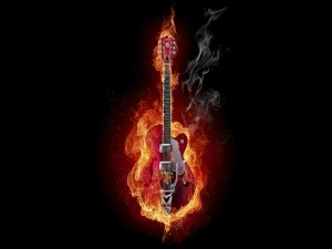 Guitarra ardiente