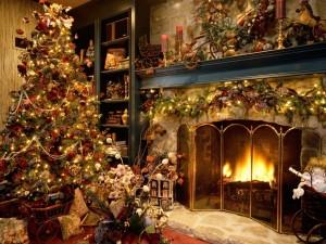 Postal: Hogar navideño