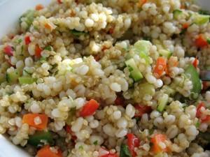 Postal: Quinoa con vegetales