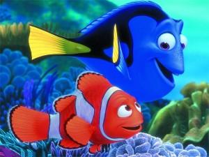 Postal: Nemo y Dory