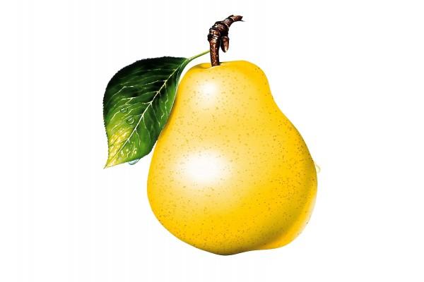Una pera amarilla