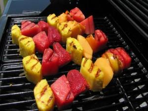 Frutas a la brasa