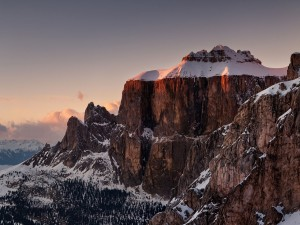 Grupo del Sella en los Dolomitas (Italia)