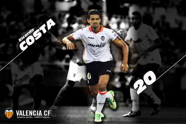 Ricardo Costa, capitán del Valencia CF