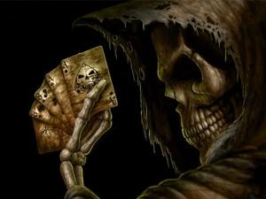 Postal: La mano del muerto