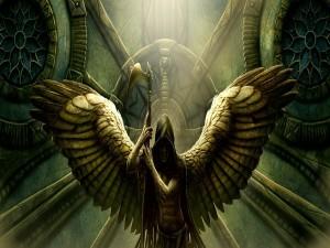 Postal: Ángel de la muerte
