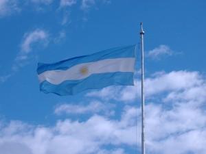 Bandera de Argentina, en el Monumento a la Bandera