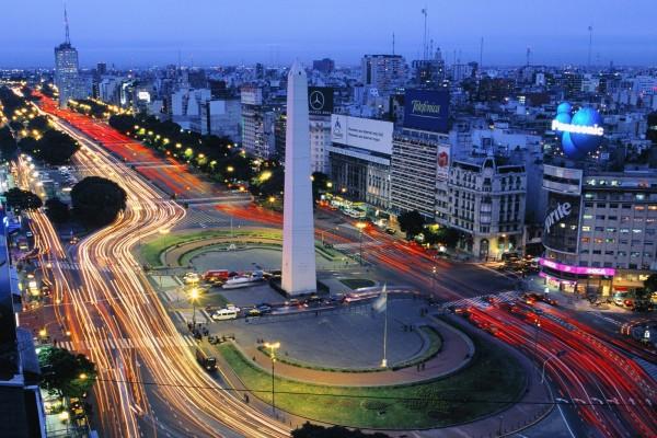 Noche en la ciudad de Buenos Aires, Argentina