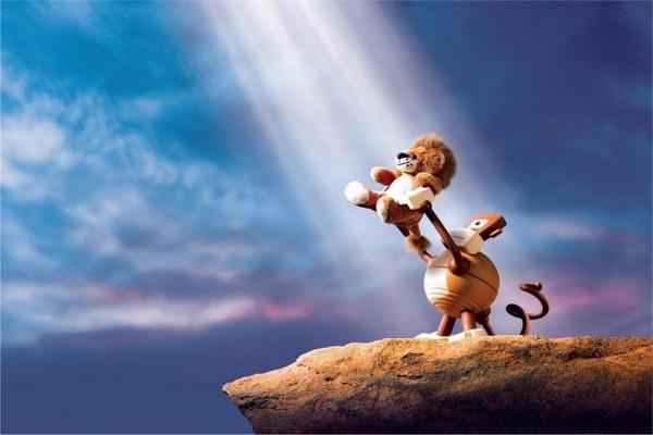 El Rey León de peluche