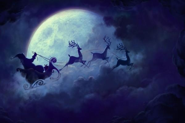 Santa Claus en su trineo
