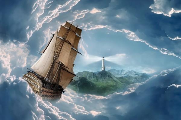 Barco en un mar de nubes