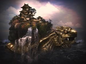 Postal: La casa-dragón