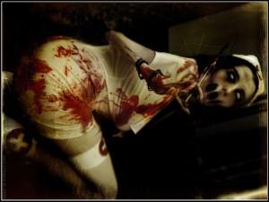 Postal: Enfermera diabólica