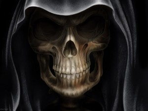 Postal: La cara de la muerte