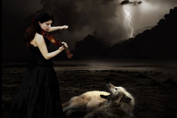 Tocando para los lobos