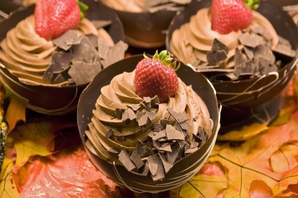 Mousse de chocolate con fresas