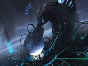 Postal: Invasión extraterrestre