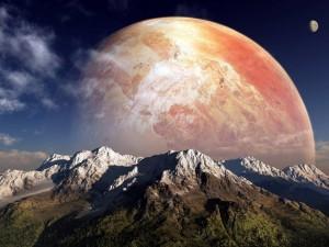 Un planeta tras la montaña