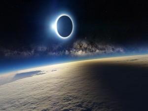 Eclipse en el espacio