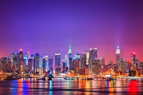 La ciudad de New York vista desde el agua