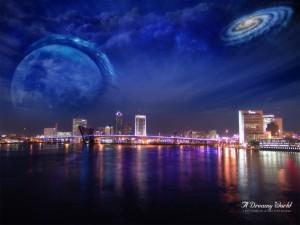 El universo sobre la ciudad