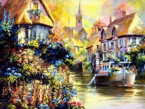Postal: Óleo del pintor Jim Mitchell