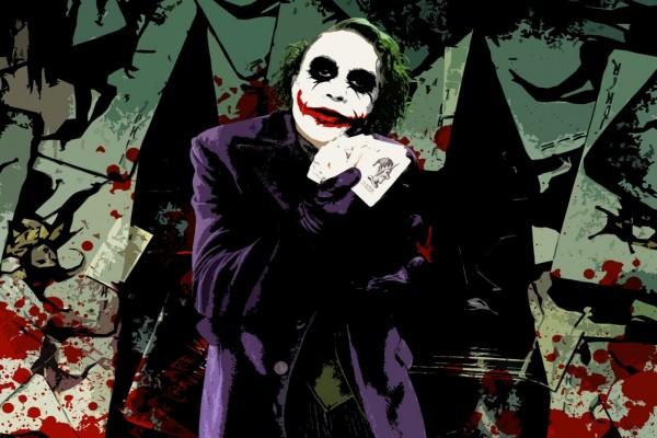El joker enseñando sus cartas