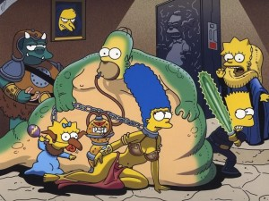 Postal: Simpsons Star Wars