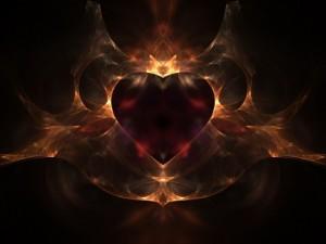 Postal: Corazón de fuego