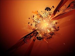 Postal: Fuego naranja
