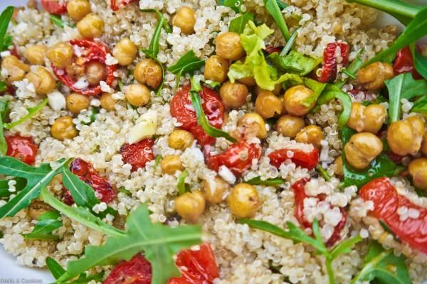 Ensalada de quinoa y garbanzos