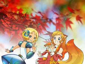 Postal: Chicas IE y Firefox
