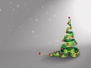 Postal: Un original árbol de Navidad