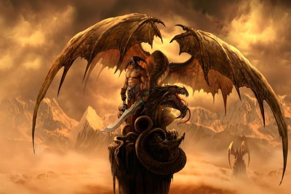 Guerrero y su dragón
