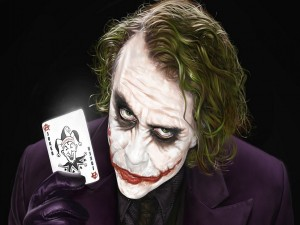 Postal: El Joker con su carta