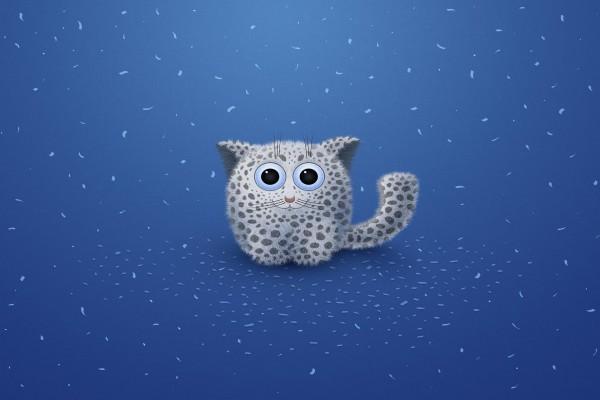 Un pequeño leopardo