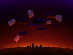 Fantasmas provocando una tormenta
