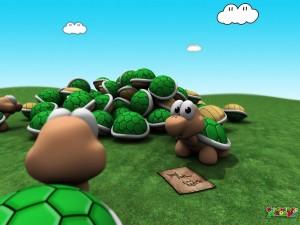 Postal: Tortuguitas de Mario